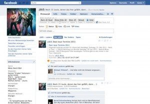 Screenshot: J.B.O. Facebook-Fanpage