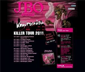 Killer Tour 2011: Support steht fest!