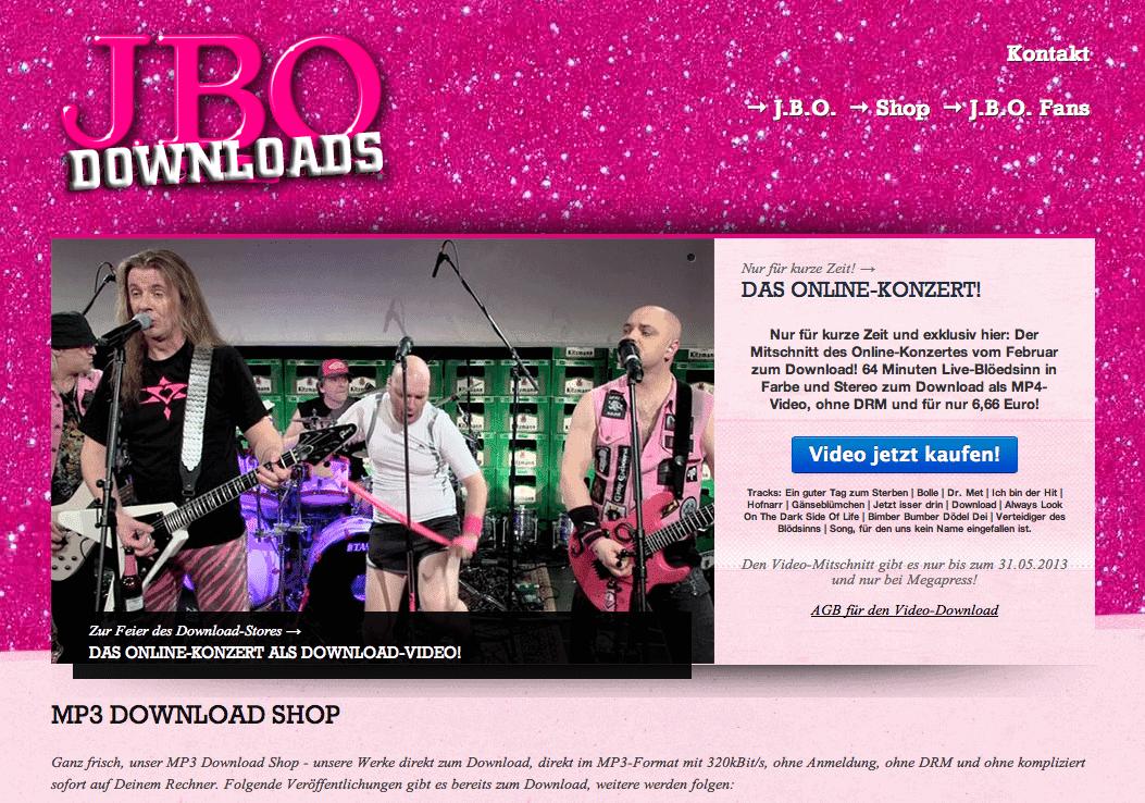 Willkommen im J.B.O. Download-Shop