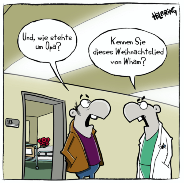 Cartoon von Oli Hilbring